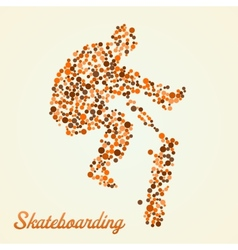 Abstract skateboarder in jump vector image vector image