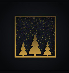 Amazing christmas festival design with three vector