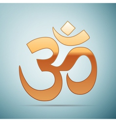 Gold sign Om Symbol of Buddhism and Hinduism vector image