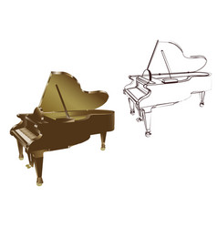 piano on white background vector image vector image