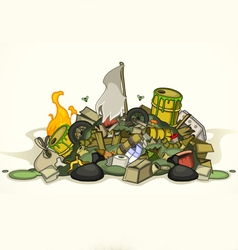 Pile of various garbage vector image vector image