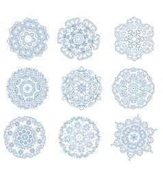 Set of abstract circular ornaments vector image vector image