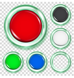 set of colored plastic buttons vector image