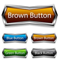 shiny chrome web buttons vector image vector image