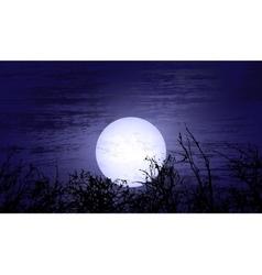 Dark night with moon vector image vector image