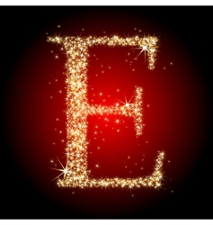 letter star e vector image vector image