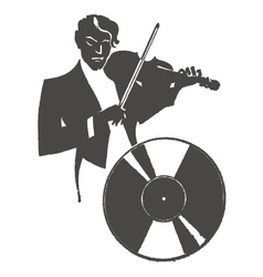 Male violinist playing the violin vector image vector image