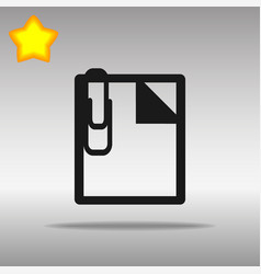 note black icon button logo symbol vector image