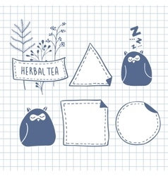 Set of cute labels vector image