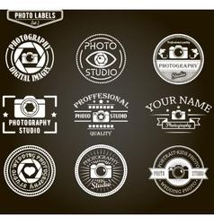set of photography logo templates Photo vector image