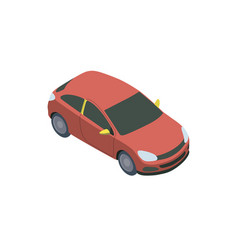 Small red car on white vector