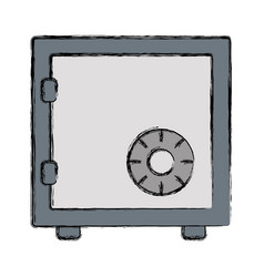 colored safe vector image