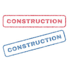 construction textile stamps vector image vector image