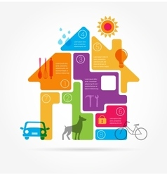 Home - infographics and icon set vector image vector image