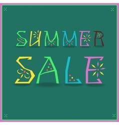 Inscription Summer Sale vector image vector image