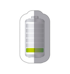 sticker battery symbol with level low energy vector image