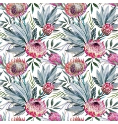 tropical protea pattern vector image vector image