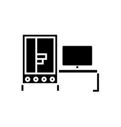 3d printer industrial icon vector image