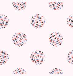 abstract polka dot circle seamless pattern vector image