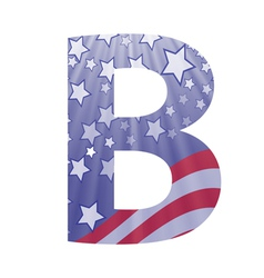 american letter B vector image