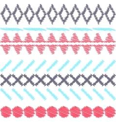 Aztec ethnic tribal seamless pattern vector