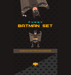 Batman theme collection vector