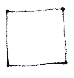 Black grunge frame isolated on the white vector