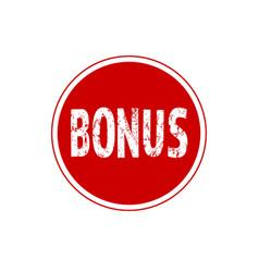 bonus circular icon isolated sticker badge logo vector image