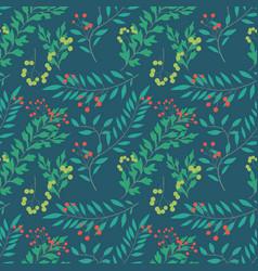 botanical leaves seamless pattern design seamless vector image