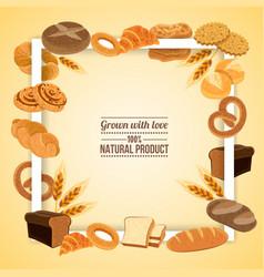 Bread frame vector