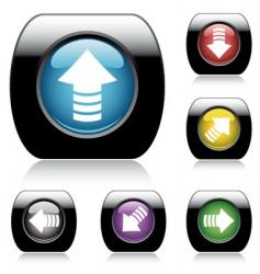 button arrow set vector image