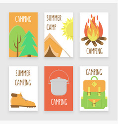 camping poster vector image