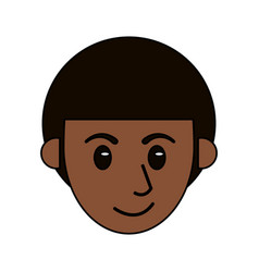 cartoon head face man male design vector image