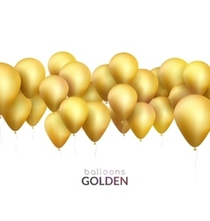 Celebration background with golden balloons vector