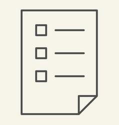 checklist thin line icon list vector image