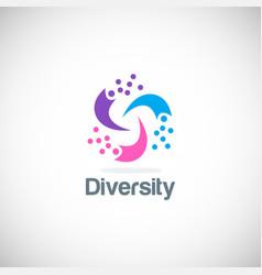circle colorful diversity logo vector image