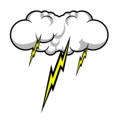 Comic thunder storm vector