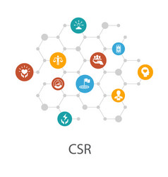 csr presentation template cover layout and vector image