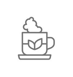 cup indian tea line icon vector image