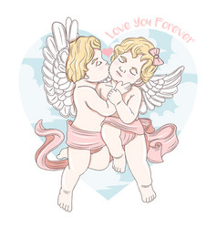 cupid love valentine vector image