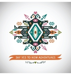 decorative element on native ethnic style vector image