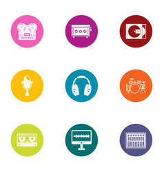 Digital registration icons set flat style vector