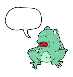 digitally drawn frogs and speech bubbles design vector image