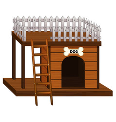 Dog house made of wood vector