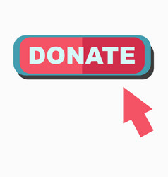 donate signboard with arrow pointing on board vector image