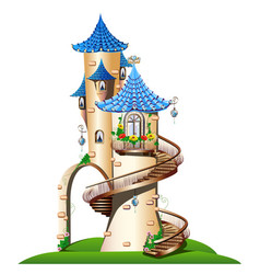 fabulous tower with balcony vector image