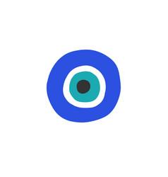 Fatima eye doodle icon color vector
