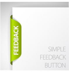 Feedback sticker vector