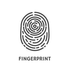 Fingerprint authentication verify poster vector