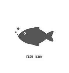 fish icon simple flat style vector image